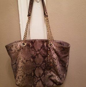 Michael Kors Python Embossed Tote Bag